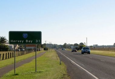fraser coast road sign